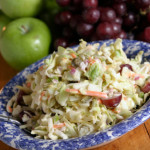 Cole Slaw with Grapes and Almonds