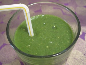 Powerful Green Pomegranate Smoothie