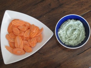 Kale Dip with Carrots