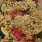 Lemon Orzo with Zucchini and Tomatoes