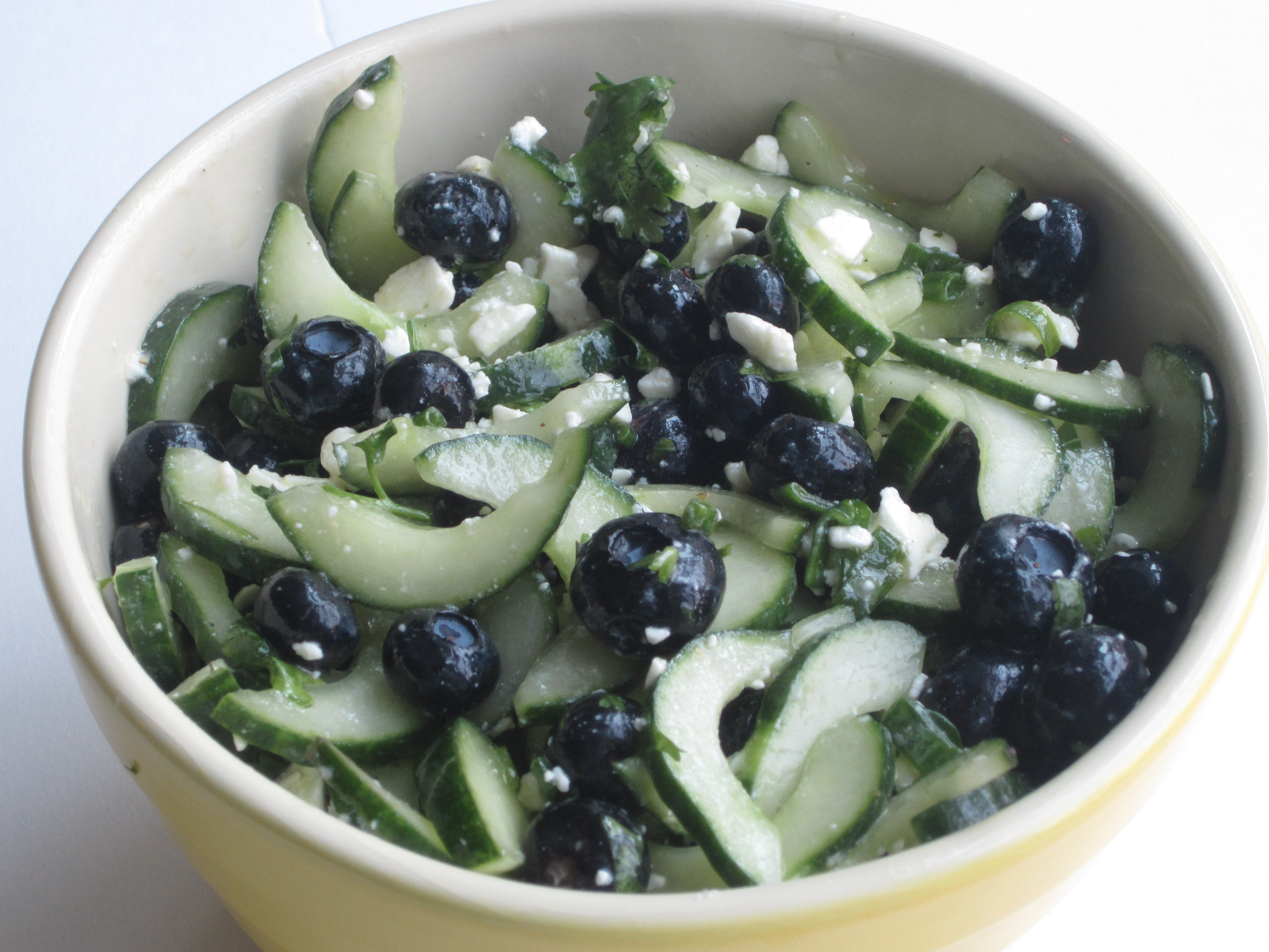 Blueberry Cucumber Feta Salad - My Judy the Foodie