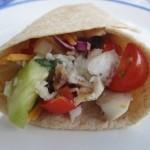 Secret Recipe Club: Fish Tacos w/Tomato Cucumber Salsa