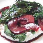 Grilled Kale Salad w/ Ricotta and Plums