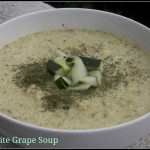 Almond and White Grape Gazpacho