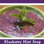 Chilled Blueberry Mint Soup