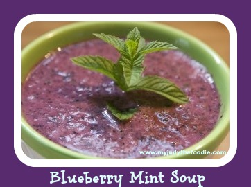 Chilled Blueberry Mint Soup - My Judy the Foodie
