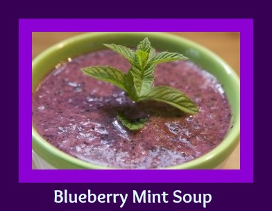 Seriously Soupy: Blueberry Mint Soup - My Judy the Foodie