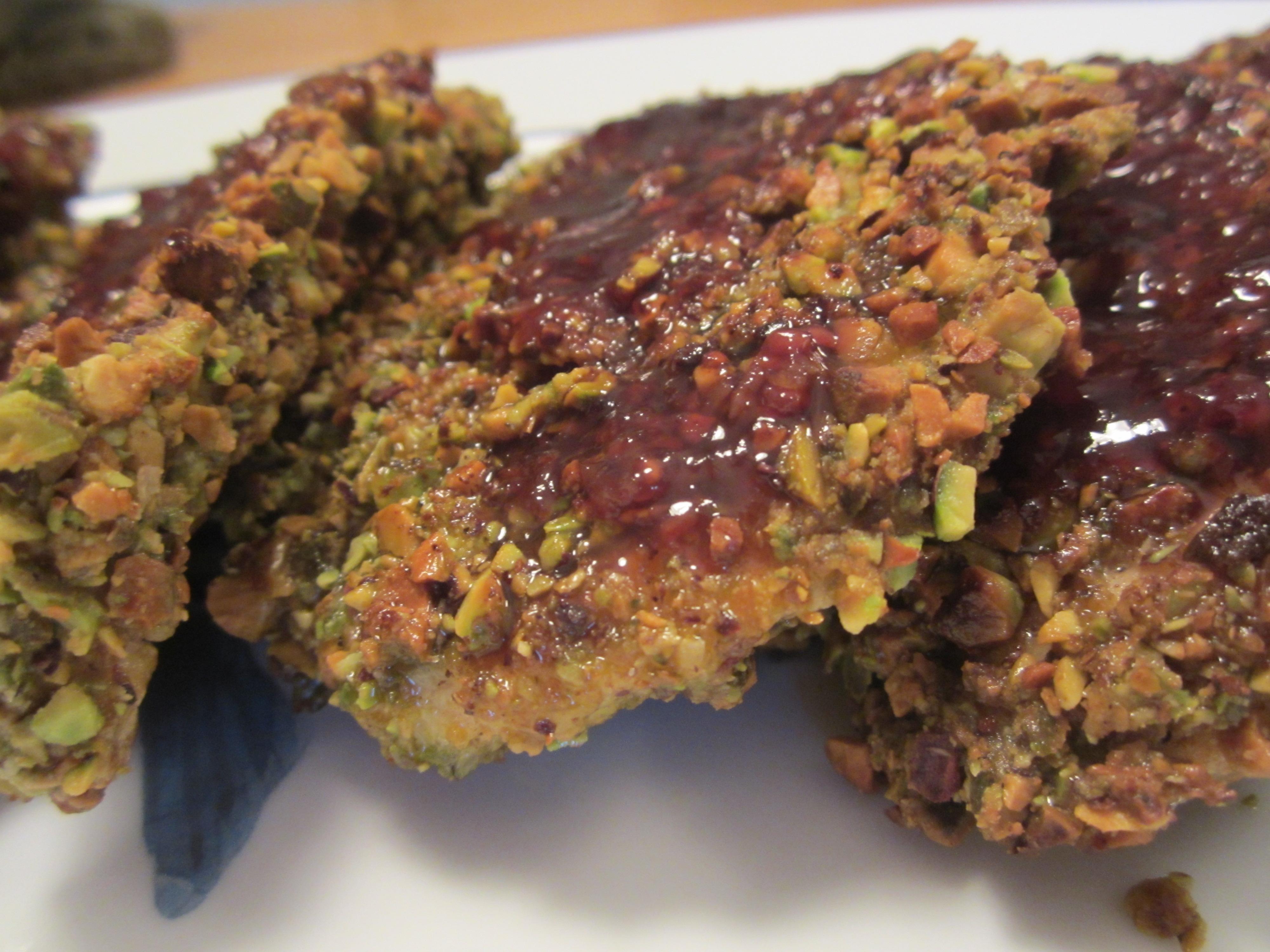 Pistachio-Crusted Chicken Breasts w/Raspberry Sauce - My ...