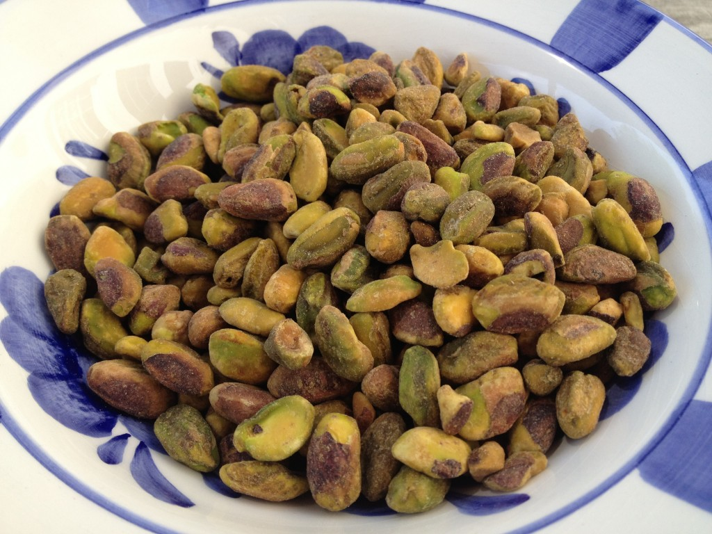 crushed pistachios