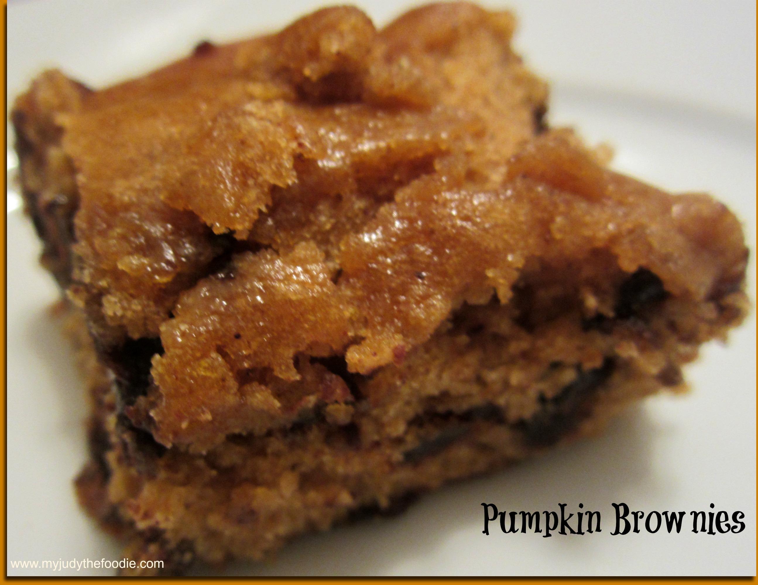 Pumpkin Brownies - My Judy the Foodie