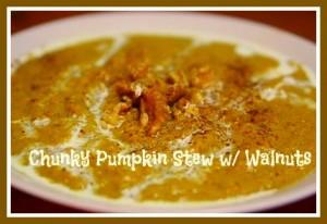 Pumpkin Stew with Walnuts