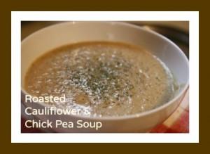 Cauliflower Chick Pea Soup