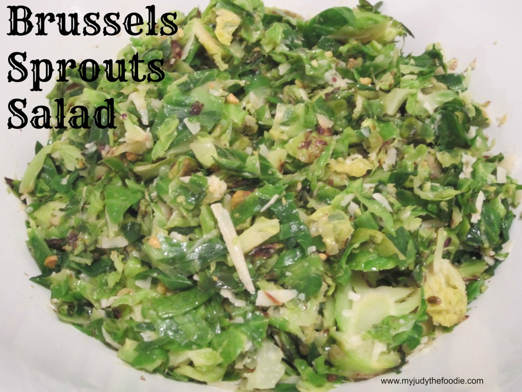 Shredded Brussels Sprouts Salad - My Judy the Foodie