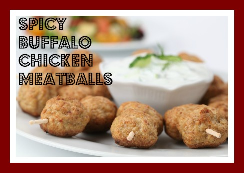 Spicy Buffalo Chicken Meatballs - My Judy the Foodie