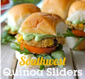 Southwestern Quinoa Sliders