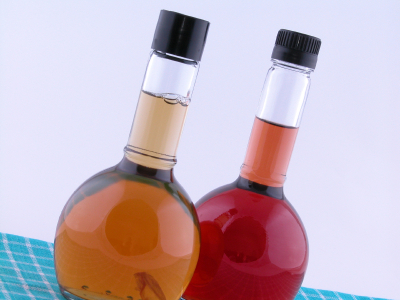 vinegar bottles