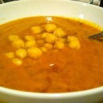 Tomato, Pumpkin and Chickpea Soup