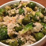 Browned Brussels sprouts with Bread Crumbs