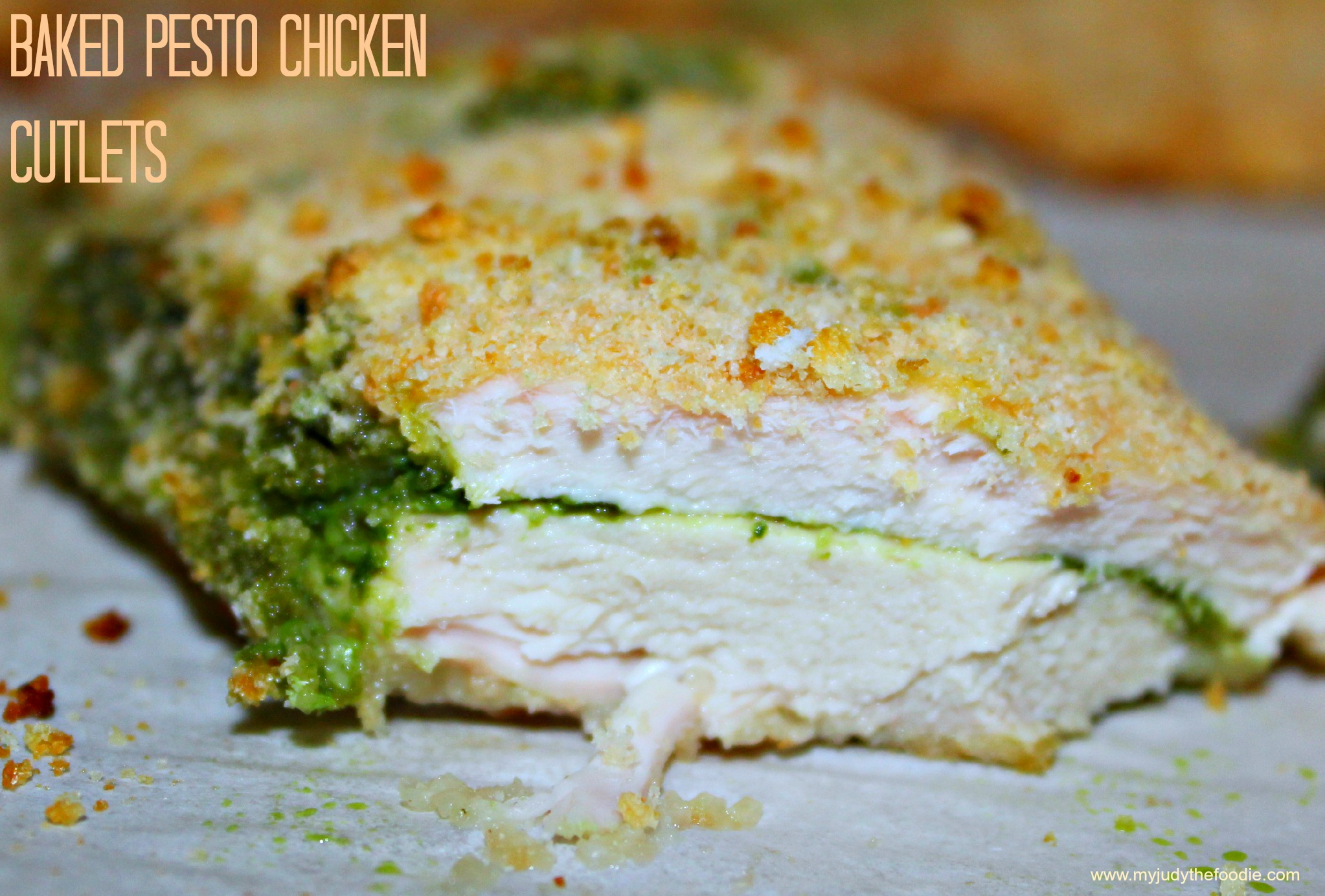 Baked Pesto Chicken Cutlets