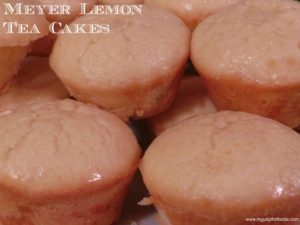 Meyer Lemon Tea Cakes w/ Pomegranate Glaze