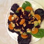 Roasted Beets, Avocado and Mesclun Salad