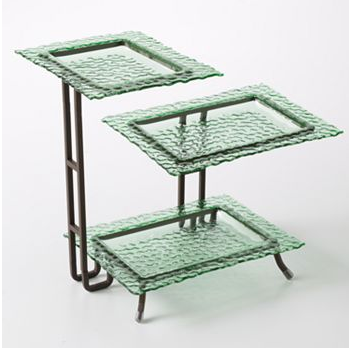 3-tier serving rack