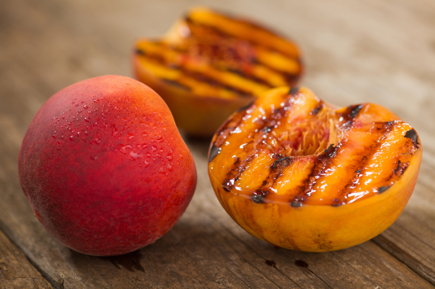 peaches on the grill