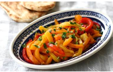 grilled bell pepper salad