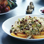 Quinoa with Pomegranates and Pistachios