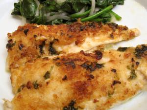 Flounder in Lemon Butter Sauce