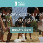 Help Hungry Kids This Summer- YOUR GIFT WILL BE MATCHED