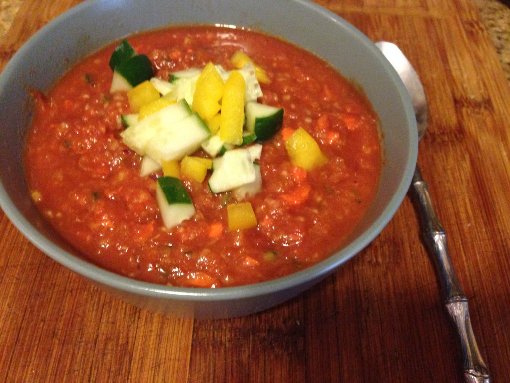 Cucumber and Carrot Gazpacho