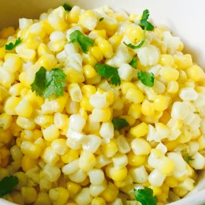 Gingered Sweet Corn with Lime