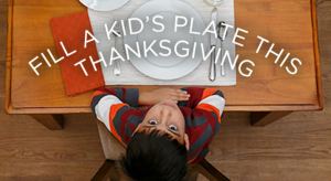Fill a Plate this #Thanksgiving w/ No Kid Hungry