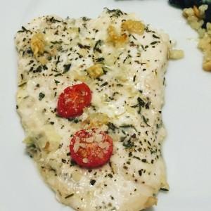 Italian Baked Flounder