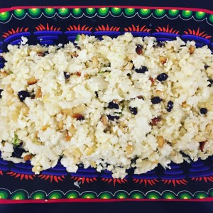 Shaved Cauliflower with Pine Nuts and Currants