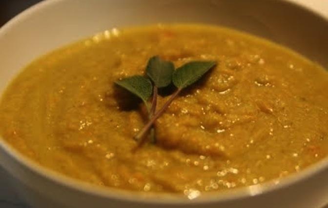Pesto-Caulflower-Carrot-Soup
