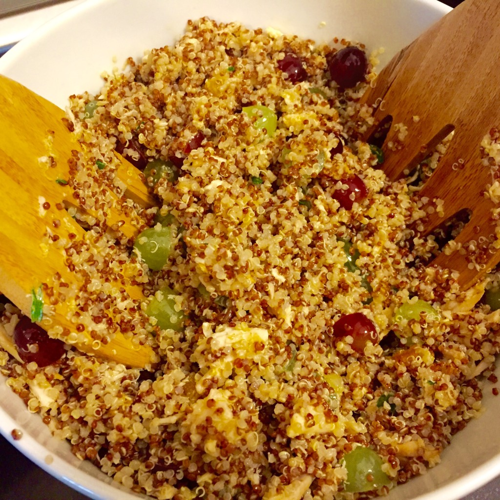 Quinoa and grapes