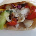 Fish Tacos w/Tomato and Cucumber Salsa